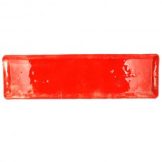 Izabel lam heirloom bandeja rectangular (33x12.7cm) vidrio color rojo
